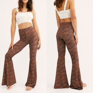 NWT Free People Harper Pull on Flare Floral Pants